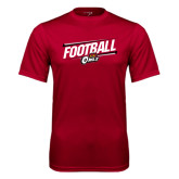 Syntrel Performance Cardinal Tee-Football Slanted