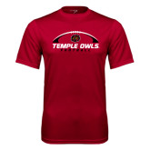 Syntrel Performance Cardinal Tee-Temple Owls Football Under Ball