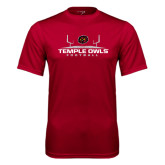 Syntrel Performance Cardinal Tee-Temple Owls Football w/Field