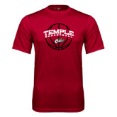 Syntrel Performance Cardinal Tee-Temple Basketball Arched w/Ball