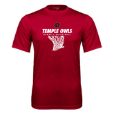 Syntrel Performance Cardinal Tee-Temple Owls Womens Basketball w/Net