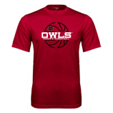 Syntrel Performance Cardinal Tee-Owls Womens Basketball w/Lined Ball