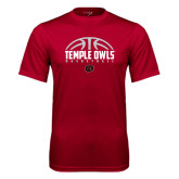 Syntrel Performance Cardinal Tee-Temple Owls Basketball Half Ball