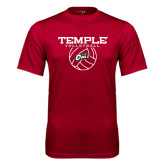Syntrel Performance Cardinal Tee-Temple Volleyball Stacked