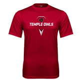 Syntrel Performance Cardinal Tee-Temple Owls Lacrosse w/Lacrosse Stick
