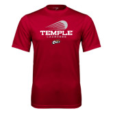Performance Cardinal Tee-Temple Lacrosse Modern