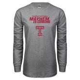 Grey Long Sleeve T Shirt-Mayhem Is Coming