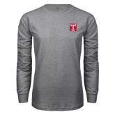 Grey Long Sleeve T Shirt-Box T