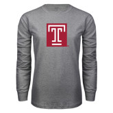 Grey Long Sleeve T Shirt-Box T