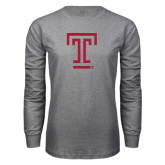 Grey Long Sleeve T Shirt-Knockout T