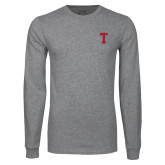 Grey Long Sleeve T Shirt-Vintage T