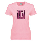 Ladies Pink T-Shirt-Box T Foil