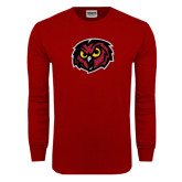 Cardinal Long Sleeve T Shirt-Owl Head