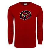Cardinal Long Sleeve T Shirt-Owl Head