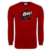 Cardinal Long Sleeve T Shirt-Swooping Owl