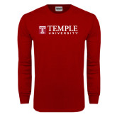 Cardinal Long Sleeve T Shirt-University Mark