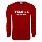 Cardinal Long Sleeve T Shirt-Grandpa
