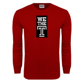 Cardinal Long Sleeve T Shirt-We The T Vertical