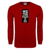 Cardinal Long Sleeve T Shirt-We The T Vertical