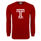 Cardinal Long Sleeve T Shirt-Knockout T