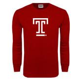 Cardinal Long Sleeve T Shirt-Knockout T