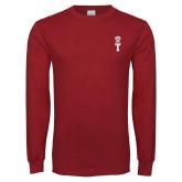 Cardinal Long Sleeve T Shirt-Vintage Owl Atop T
