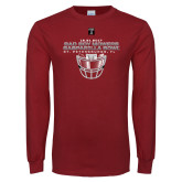 Cardinal Long Sleeve T Shirt-Gasparilla Bowl - Face mask Design