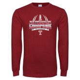 Cardinal Long Sleeve T Shirt-Bad Boy Mowers Gasparilla Bowl Champions - Gradient