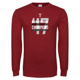 Cardinal Long Sleeve T Shirt-Bad Boy Mowers Gasparilla Bowl Champions - Year
