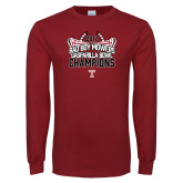 Cardinal Long Sleeve T Shirt-Bad Boy Mowers Gasparilla Bowl Champions - Stadium