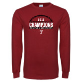 Cardinal Long Sleeve T Shirt-Bad Boy Mowers Gasparilla Bowl Champions - Football