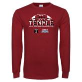 Cardinal Long Sleeve T Shirt-Temple 2018 Independence Bowl