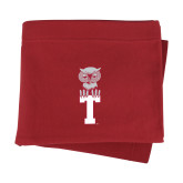 Cardinal Sweatshirt Blanket-Vintage Owl Atop T
