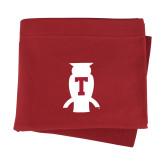 Cardinal Sweatshirt Blanket-Perched Owl T