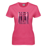 Ladies Fuchsia T Shirt-Box T Foil