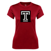 Ladies Syntrel Performance Cardinal Tee-Box T