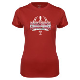 Ladies Syntrel Performance Cardinal Tee-Bad Boy Mowers Gasparilla Bowl Champions - Gradient