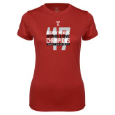 Ladies Syntrel Performance Cardinal Tee-Bad Boy Mowers Gasparilla Bowl Champions - Year