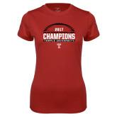 Ladies Syntrel Performance Cardinal Tee-Bad Boy Mowers Gasparilla Bowl Champions - Football