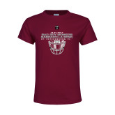 Youth Cardinal T Shirt-Gasparilla Bowl - Face mask Design
