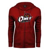 ENZA Ladies Cardinal Fleece Full Zip Hoodie-Field Hockey