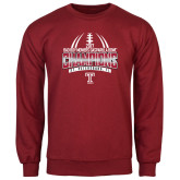 Cardinal Fleece Crew-Bad Boy Mowers Gasparilla Bowl Champions - Gradient