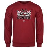Cardinal Fleece Crew-Bad Boy Mowers Gasparilla Bowl Champions - Stadium