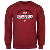 Cardinal Fleece Crew-Bad Boy Mowers Gasparilla Bowl Champions - Football