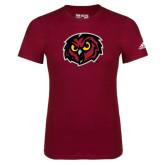 Adidas Cardinal Logo T Shirt-Owl Head