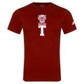 Adidas Cardinal Logo T Shirt-Vintage Owl Atop T