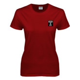 Ladies Cardinal T Shirt-Box T