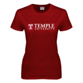 Ladies Cardinal T Shirt-University Mark