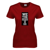 Ladies Cardinal T Shirt-We The T Vertical