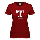 Ladies Cardinal T Shirt-Knockout T